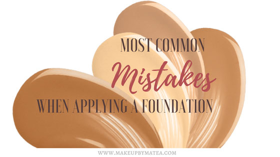 Most common mistakes when applying a foundation